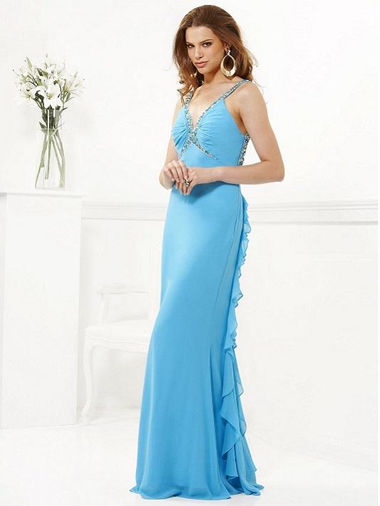 Vestido Longo em crepe de seda, aluguel de vestido para casamentos, vestidos de seda, vestidos de festa azul, vestidos finos,