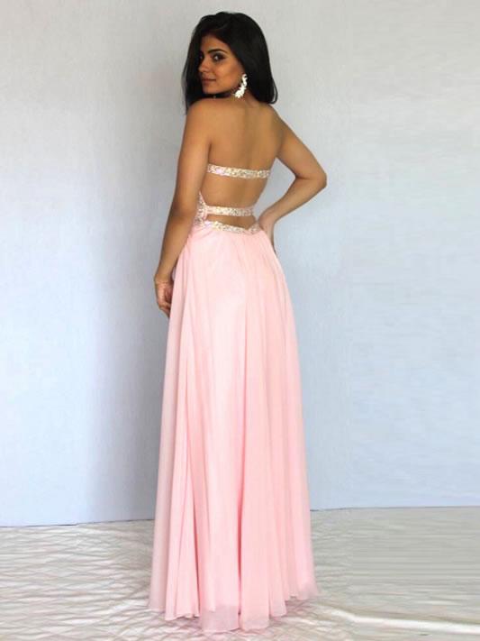 vestido de festa longo rosa bebe